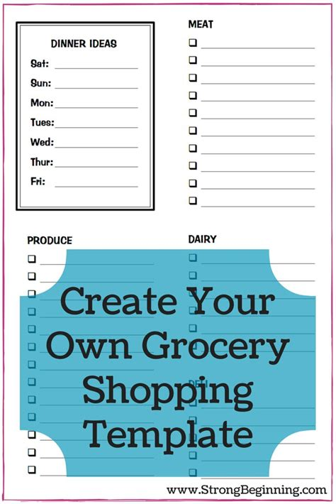 make your own word search template create your own grocery shopping template in word create
