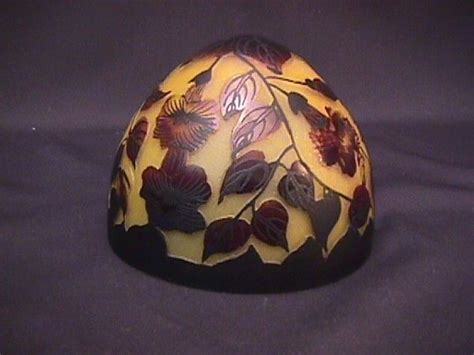 galle glass l shade 995 galle glass lamp shade reproduction lot 995