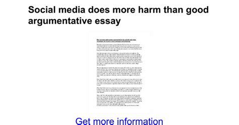 good thesis statement about social media social media does more harm than good argumentative essay