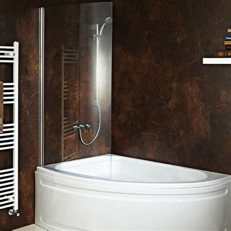 corner baths with shower screens quot carolina quot corner bath with hinged curved shower screen front panel included ebay
