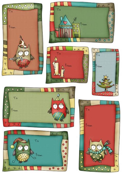 free printable christmas owl tags free christmas owl gift label notes by catru worldlabel blog