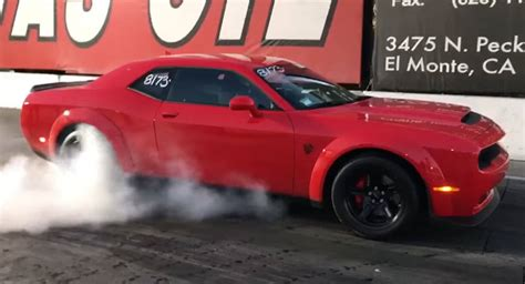 who owns dodge brand new dodge challenger srt simply owns the drag