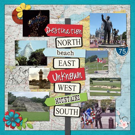 Scrapbook Travel Album Discover New Zealand by Title Page For Travel Album Pinteres