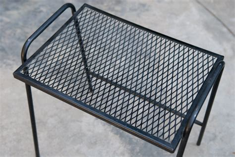 mesh patio table heygreenie vintage wire mesh patio side table es sold