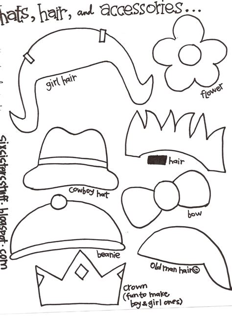 template montser make your own puppets printable pattern six