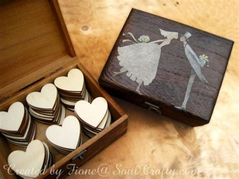 Wooden Wedding Gift Card Box - big dark rustic box wooden hearts for wedding guest s cards advice or wooden box