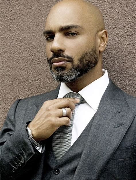 black style beards bearded black bald business suit now that s a man
