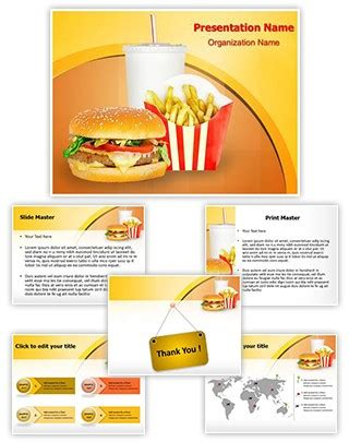 Professional Fast Food Mcdonalds Editable Powerpoint Template Fast Food Powerpoint Template