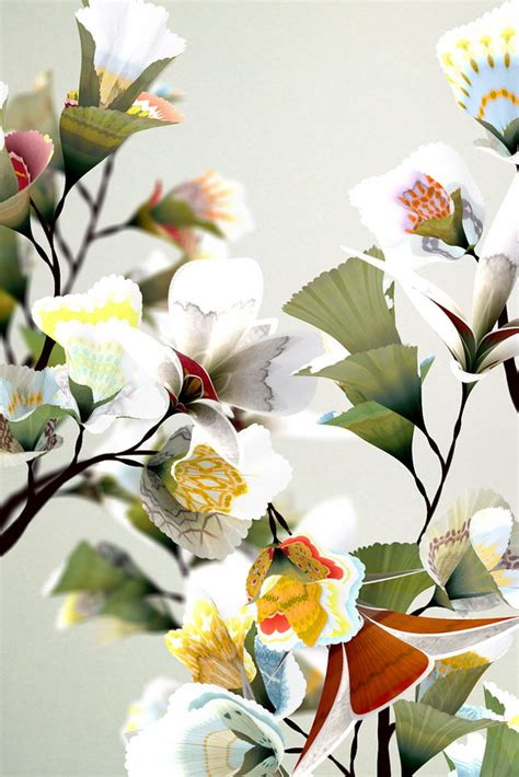 flora the art of daniel brown digital floral art patternbank