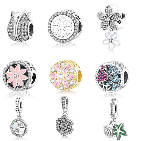 Pandora Charm Sterling Silver P 473 925 sterling silver luminous floral openwork dangle charm fits original pandora charms