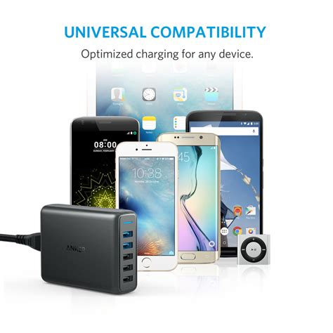 Powerport Speed 5 With Dual Charge 3 0 Black A 2054k11 anker powerport speed 5 with dual charge 3 0 laraibnow