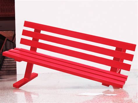red benches red bench faisal habibi