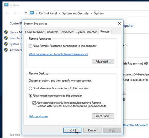 remote desktop firewall how to enable remote desktop connection in windows 10