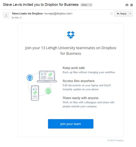 dropbox email accessing a lehigh dropbox account library technology