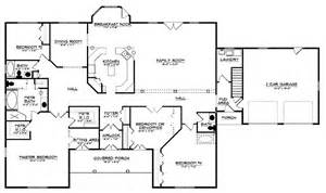 Four Bedroom Ranch House Plans by 301 Moved Permanently