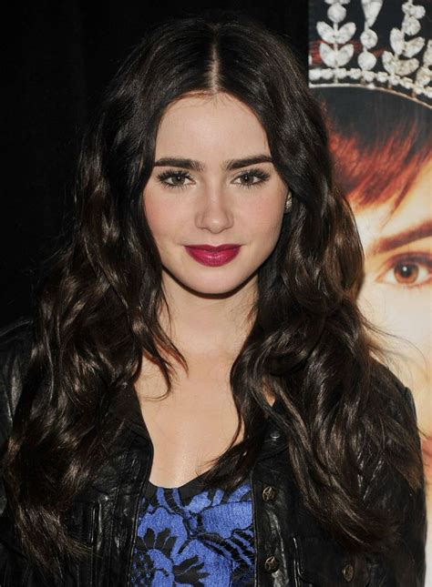 lily collins great hair and lip colour game is as famous as she is lily collins berry lipstick berry lipstick back to and