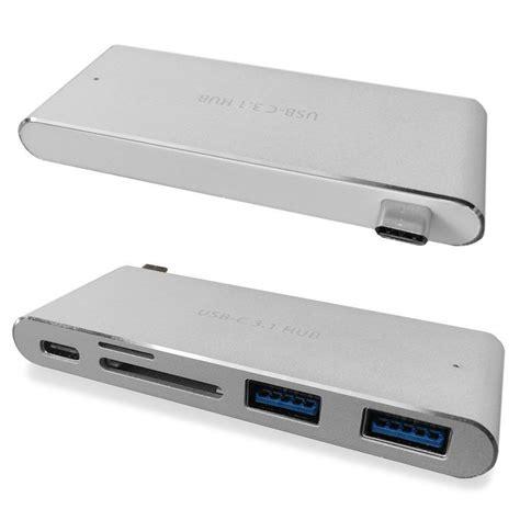 Usb Hub 4 Slot usb c 3 1 multiport hub usb a ports sdhc sd card micro sd