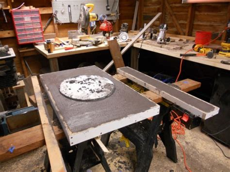 vanity  concrete countertop woodworking talk