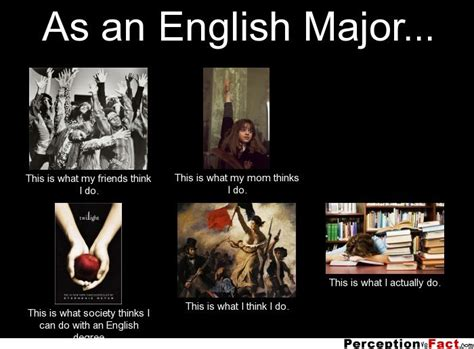 English Major Meme - as an english major what people think i do what i