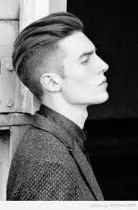 long  top    sides shaved mens hair
