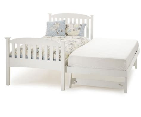 white single bed serene eleanor 3ft wooden guest bed white bedstar co uk