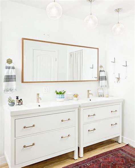 ikea hemnes bathroom vanity ikea hack modern bathroom inspiration guest bathroom