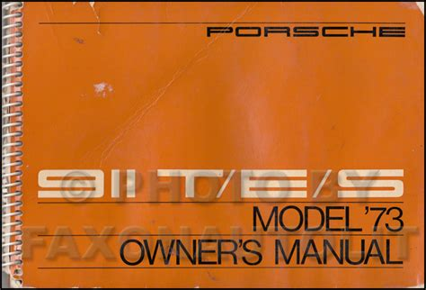 automotive service manuals 1998 porsche 911 user handbook 1973 porsche 911 s t e owner s manual original