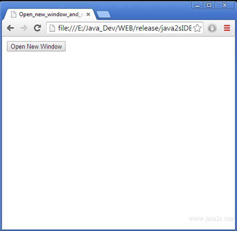 Javascript Tutorial Open New Window | open new window and set window location in javascript