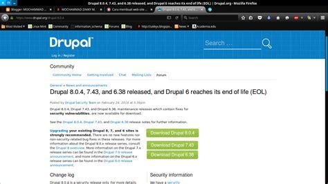 membuat web membuat website menggunakan cms drupal versi 8 0 4