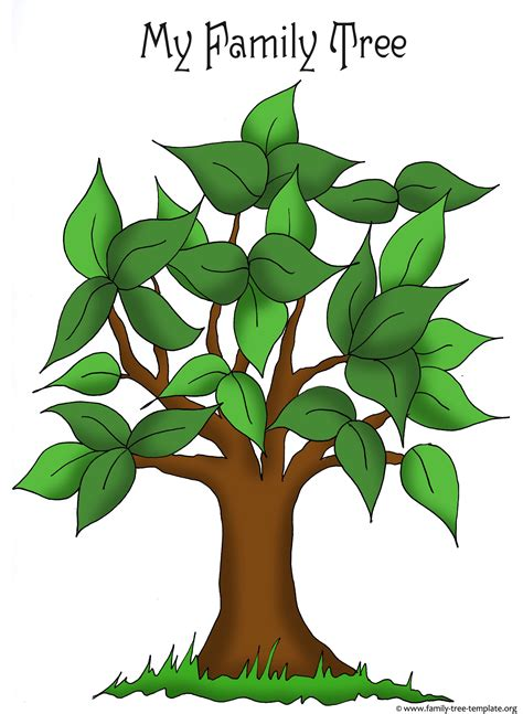 preschool family tree template kindergarten news october 2014