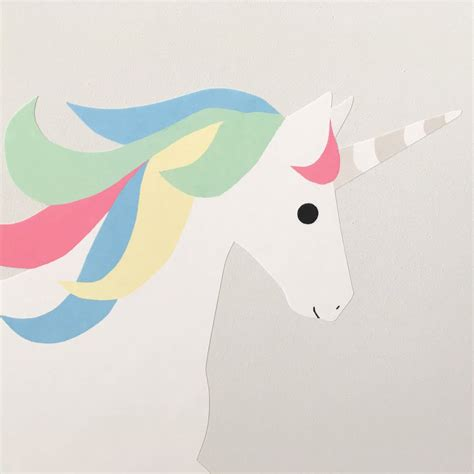 Unicorn Pastel pastel unicorn wall sticker by chameleon wall