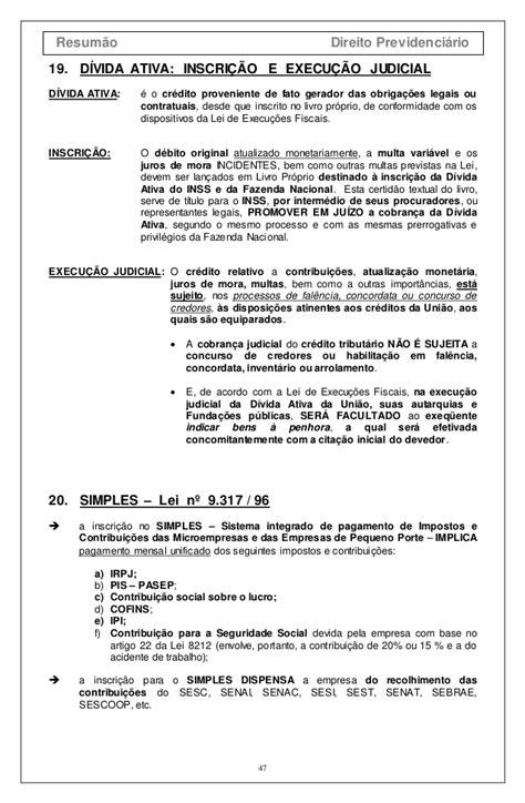 RESUMO LEGISLAÇÃO PREVIDENCIÁRIA-ANTONIO INACIO FERRAZ