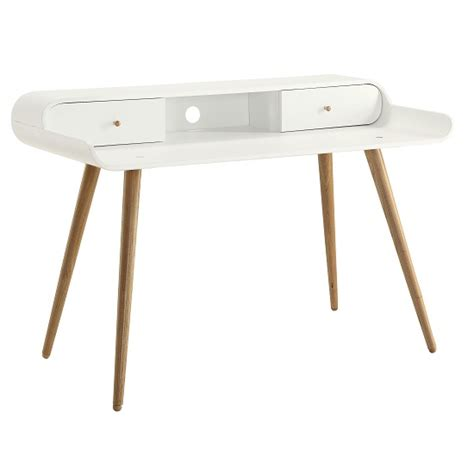 wooden laptop desk worcester wooden laptop desk in white ash with 2 drawers