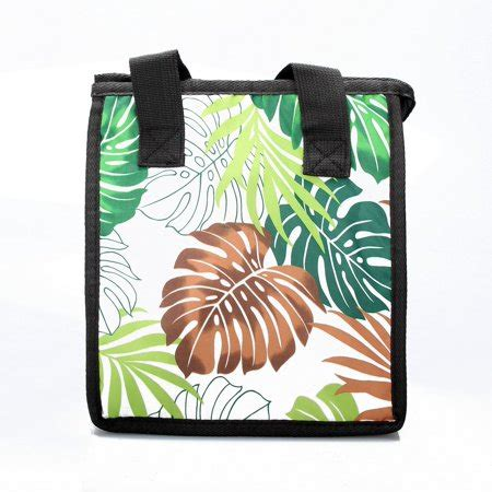 Print Insulated Lunch Bag hawaiian print thermal insulated zipper lunch bag bread
