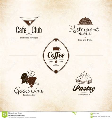 menu design label label logo set for restaurant menu design stock vector