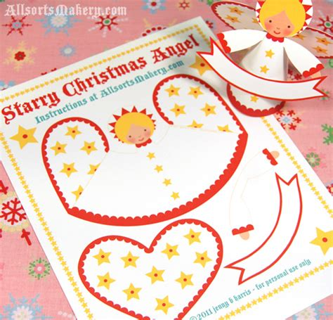 printable paper angel starry christmas angels a sweet paper printable to make
