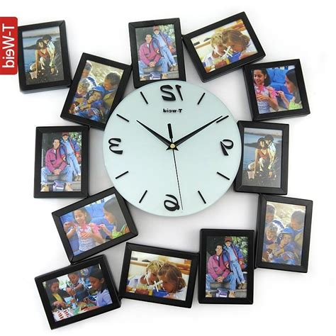 cool wall clock promotion online shopping for promotional personalized photo frame wall clock