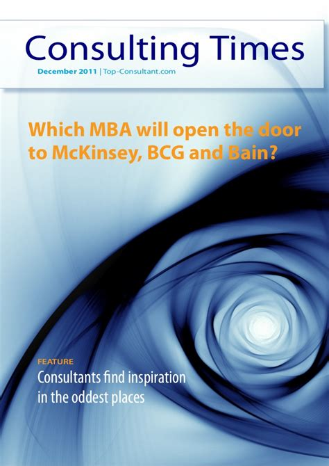 Mckinsey Salary Mba by Which Mba Will Open The Door To Mckinsey Bcg And Bain