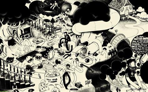 black and white comic wallpaper black and white cartoon art wallpaper background