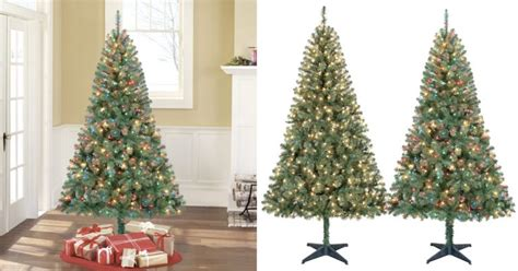 cyber monday prelit christmas tree walmart cyber monday time pre lit 6 5 pine green artificial tree 33