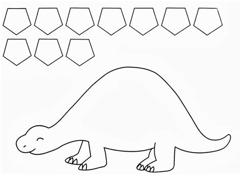 dinosaur template twanneke dinosaur shapes pentagon shapes dinosaurs