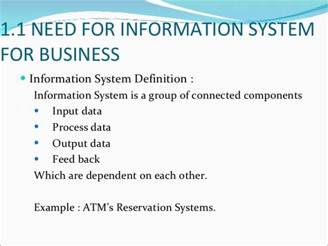 define systemize information technology for business
