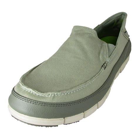 crocs mens slippers crocs mens stretch sole slip on loafer shoes ebay