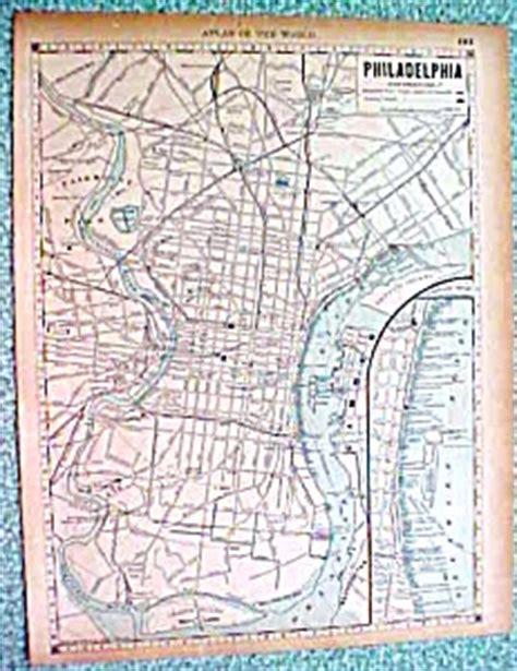 antique map philadelphia  york city brooklyn