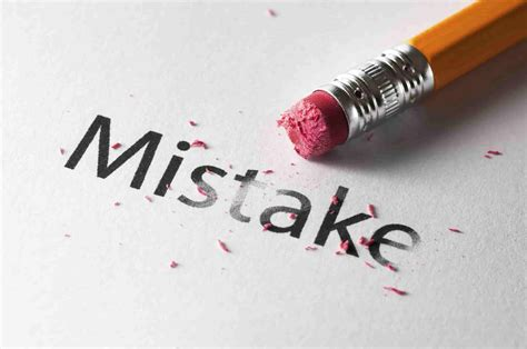 The Mistakes how can we avoid repeating the same mistakes again