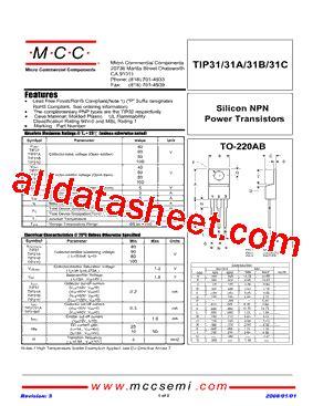 transistor tip31c datasheet tip31c bp datasheet pdf micro commercial components