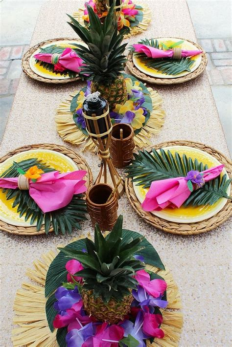 hawaiian table decorations ideas best 20 luau centerpieces ideas on luau