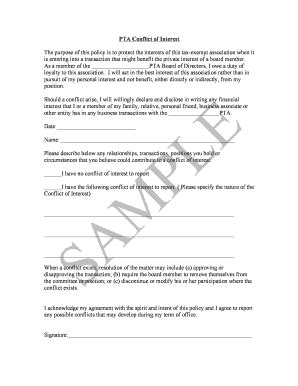 conflict of interest form template fillable njpta sle conflict of interest form