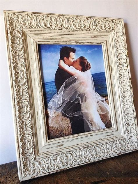 wedding photo frame antique white shabby chic picture