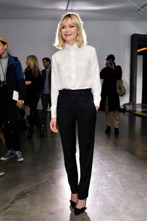 black and white shirt to wear with pants the white buttoned down shirt with the cigarette pants a